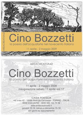 CINO BOZZETTI - La poesia dell'acquaforte nel novecento italiano